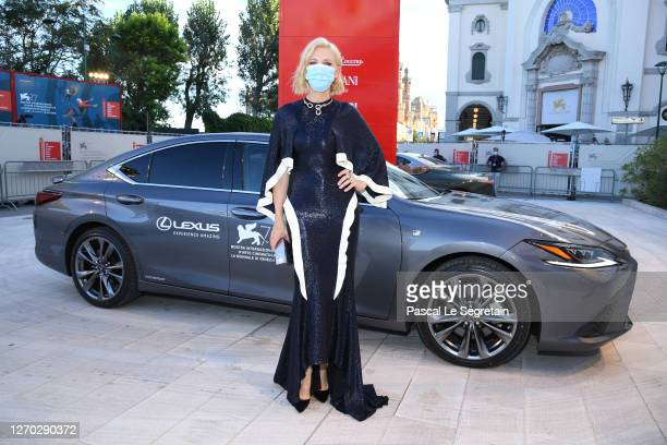 """Jury President of the 77th Venice Film festival, Australian-US actress Cate Blanchett arrives on the red carpet ahead of the """"Lacci"""" screening during..."""