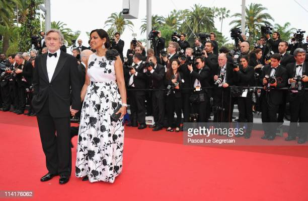 """Jury President Robert De Niro and his wife Grace Hightower attend the """"Pirates of the Caribbean: On Stranger Tides"""" premiere at the Palais des..."""