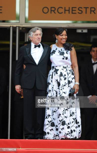 Jury President Robert De Niro and his wife Grace Hightower attend the 'Pirates of the Caribbean On Stranger Tides' premiere at the Palais des...