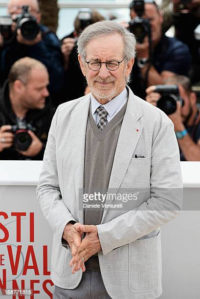 Jury president Steven Spielberg attends the Jury photocall during the 66th Annual Cannes Film Festival at Palais des Festivals on May 15, 2013 in...