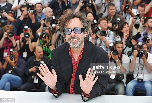 Jury President Tim Burton attends the Jury Presentation Photocall at the Palais des Festivals during the 63rd International Cannes Film Festival on...