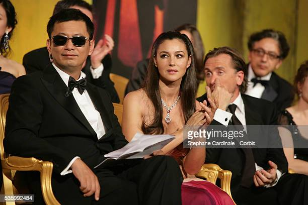 Jury President Wong Kar Wai and jury member Monica Bellucci at the closing ceremony of the 59th Cannes Film Festival