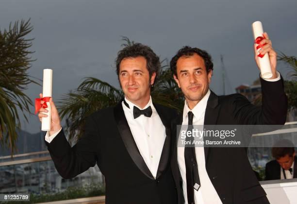 Jury Prize award winner Director Paolo Sorrentino for the film Il Divo and Grand Prix award winner Director Matteo Garrone for the film Gomorra pose...