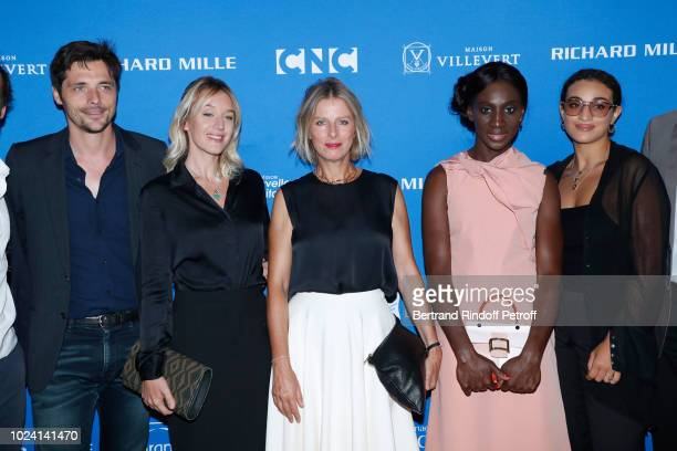 Jury Raphael Personnaz Ludivine Sagnier President Karin Viard Eye Haidara and Camelia Jordana attend the Closing Ceremony of the 11th Angouleme...