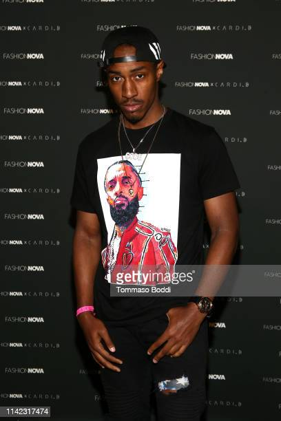 JuS BeatZ arrives as Fashion Nova Presents Party With Cardi at Hollywood Palladium on May 8 2019 in Los Angeles California