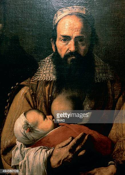 Jusepe Ribera Spanish painter The Bearded Woman Nursing Detail 1631 Oil on canvas Hospital de Tavera Toledo Spain