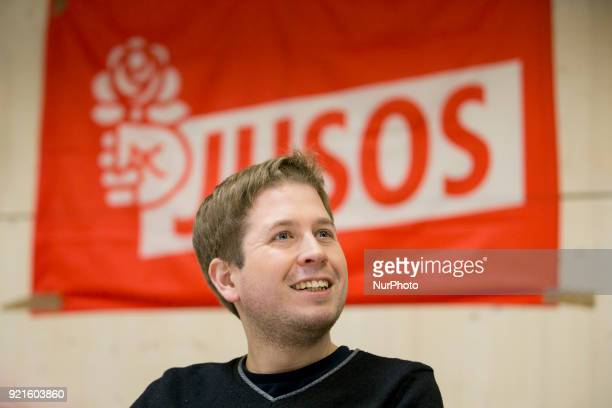 Jusos Chairman Kevin Kuehnert is pictured during a Nogroko Tour Event in Berlin Germany on February 20 2017