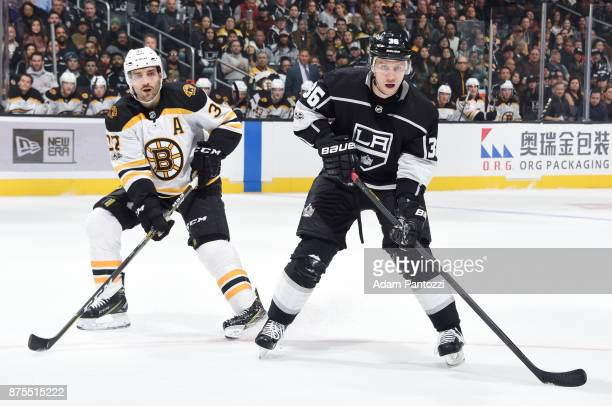 Jussi Jokinen of the Los Angeles Kings calls for the puck during a game against the Boston Bruins at STAPLES Center on November 16 2017 in Los...