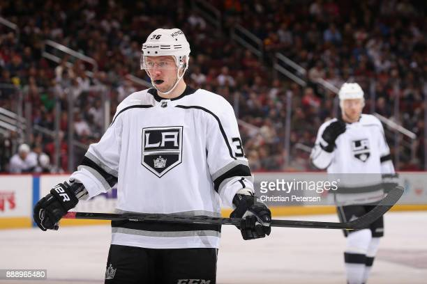 Jussi Jokinen of the Los Angeles Kings during the third period of the NHL game against the Arizona Coyotes at Gila River Arena on November 24 2017 in...