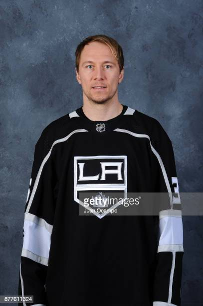 Jussi Jokinen of the Los Angeles Kings poses for a headshot before a game against the Winnipeg Jets at STAPLES Center on November 22 2017 in Los...