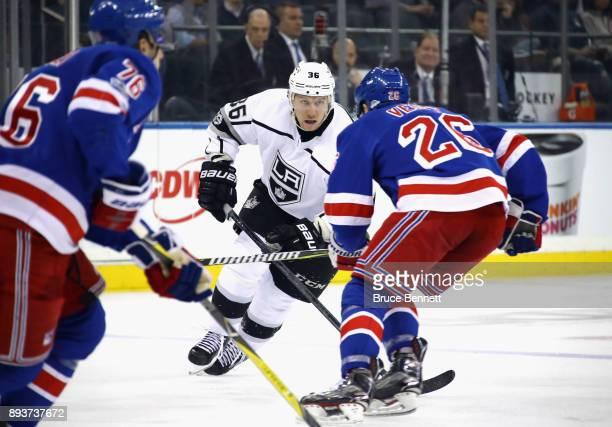 Jussi Jokinen of the Los Angeles Kings skates against the New York Rangers at Madison Square Garden on December 15 2017 in New York City The Rangers...