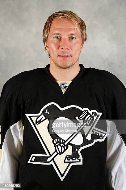 Jussi Jokinen of the Pittsburgh Penguins poses for his official headshot for the 20132014 season on September 11 2013 at the Consol Energy Center in...
