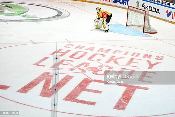 Jussi Markkanen of Saipa Lappeenranta during the Champions Hockey League quarter final second leg game between Karpat Oulu and SaiPa Lappeenranta at...