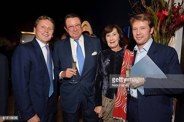 Jussi Pylkannen Thomas Gibson Anthea Gibson and Hugh Gibson attend reception hosted by Graff held in aid of FACET at Christie's King Street on...