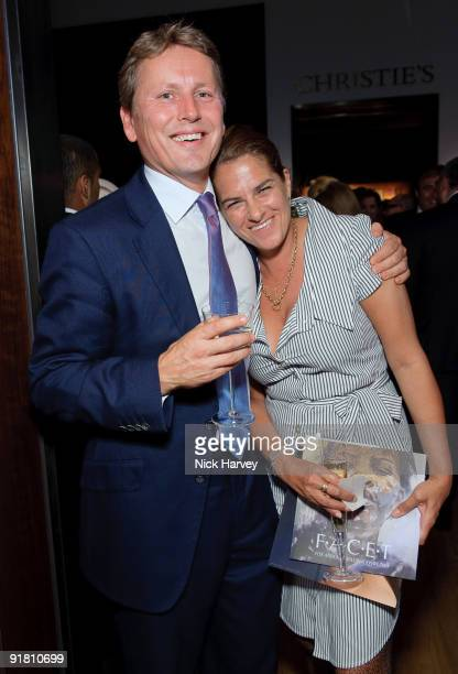 Jussi Pylkkanen and Tracey Emin attend reception hosted by Graff held in aid of FACET at Christie's King Street on October 12 2009 in London England