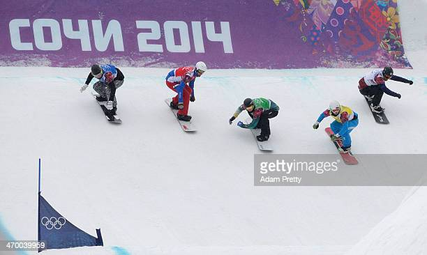 Jussi Taka of Finland Pierre Vaultier of France Jarryd Hughes of Australia Hanno Douschan of Austria and Emil Novak of the Czech Republic compete in...
