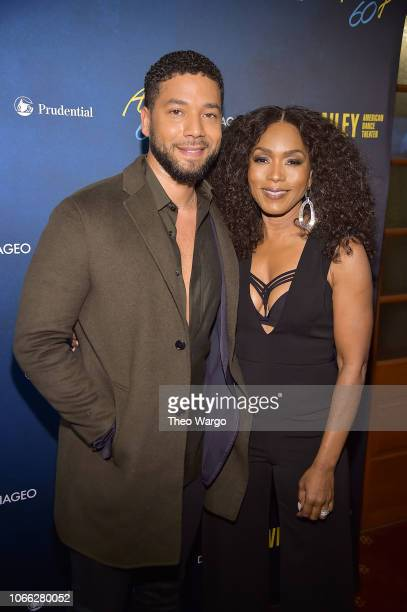 Jussie Smollett and Angela Bassett attend the Alvin Ailey American Dance Theater's 60th Anniversary Opening Night Gala Benefit at New York City...