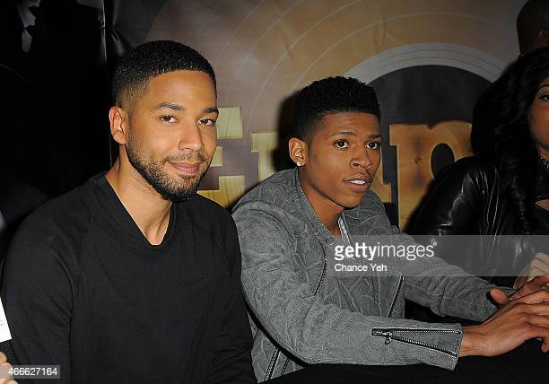 Jussie Smollett and Bryshere Gray aka Yazz the Greatest attend Empire CD Signing at Fulton Center on March 17 2015 in New York City