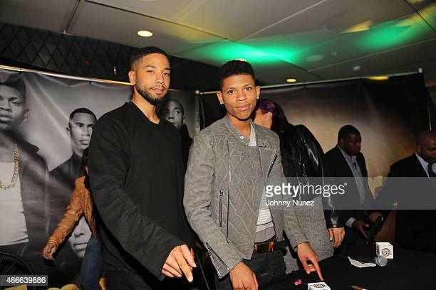 Jussie Smollett and Bryshere Y Gray attend the 'Empire' CD Signing at Fulton Center on March 17 2015 in New York City