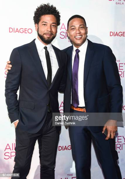 Jussie Smollett and Don Lemon attend the 2018 Ailey Spirit Gala Benefit at David H Koch Theater at Lincoln Center on June 14 2018 in New York City
