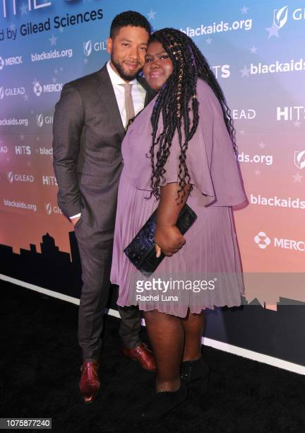 Jussie Smollett and Gabourey Sidibe attend the Black AIDS Institute's 2018 Heroes in The Struggle Gala at California African American Museum on...