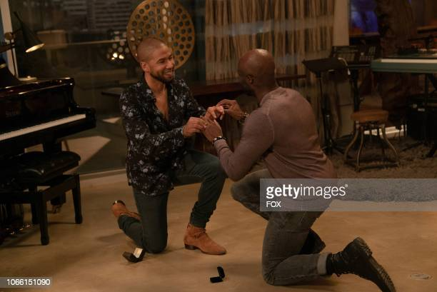 Jussie Smollett and guest star Toby Onwumere in the The Depth of Grief episode of EMPIRE airing Wednesday Oct 31 on FOX