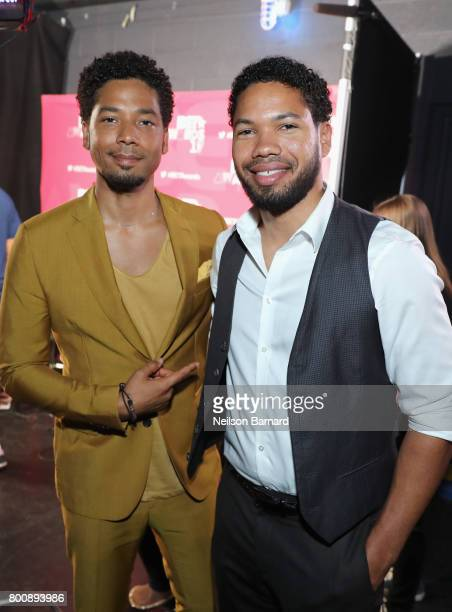 Jussie Smollett and Jocqui Smollett backstage at the 2017 BET Awards at Microsoft Theater on June 25 2017 in Los Angeles California