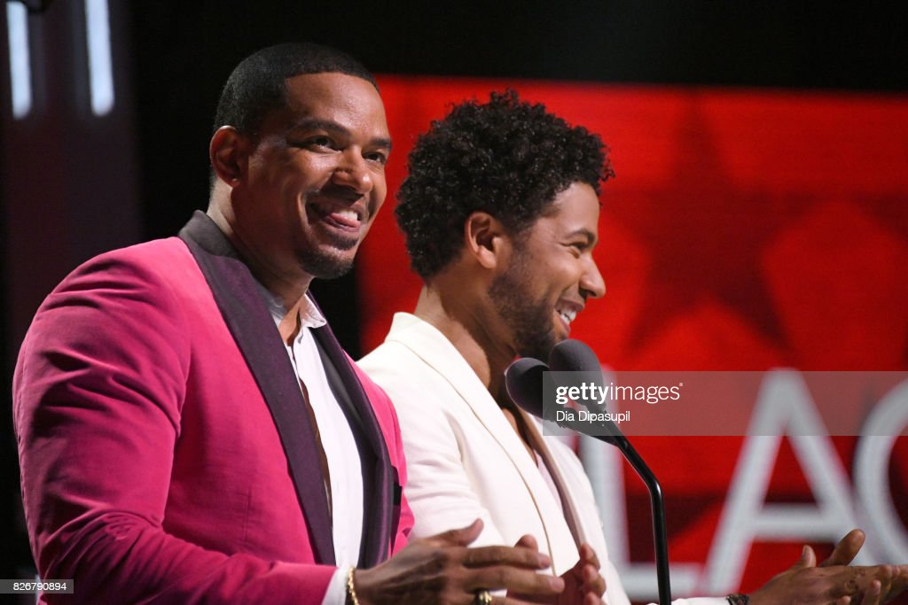 Jussie Smollett and Laz Alonso speaks onstage during Black Girls Rock! 2017 at NJPAC on August 5, 2017 in Newark, New Jersey.