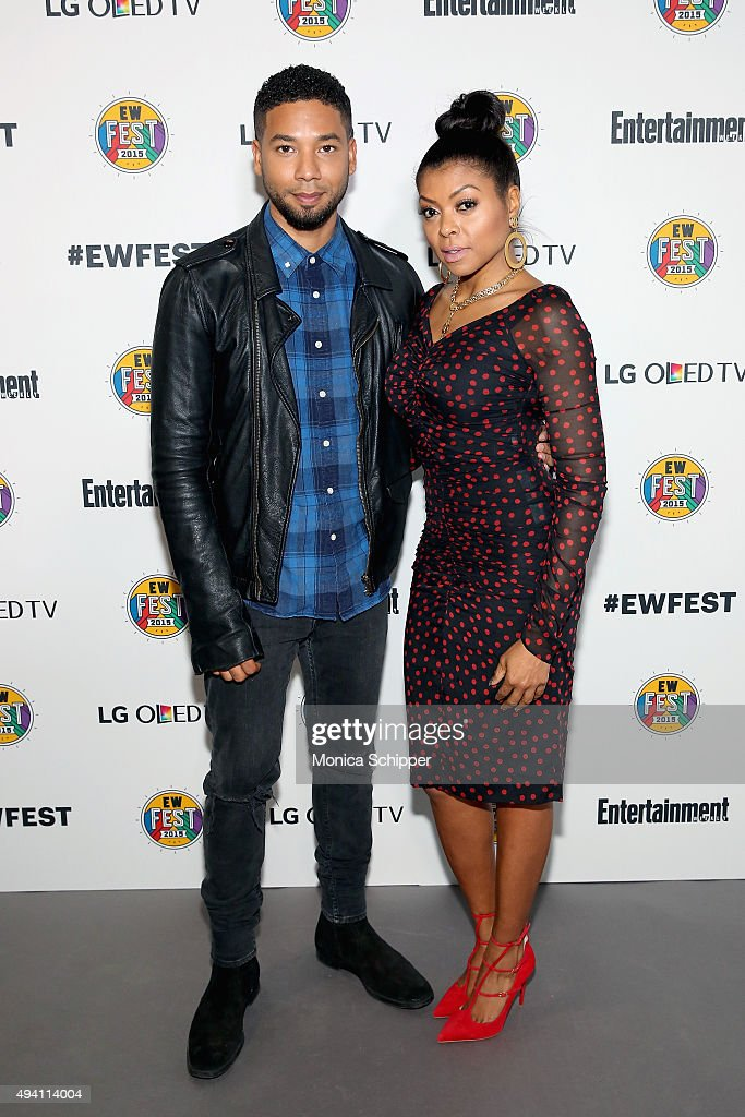 Jussie Smollett (L) and Taraji P. Henson attend Entertainment Weekly's first ever 'EW Fest' presented by LG OLED TV on October 24, 2015 in New York City.