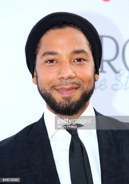 Jussie Smollett arrives at the 16th Annual Heroes In The Struggle gala reception and awards presentation at 20th Century Fox on September 16 2017 in...