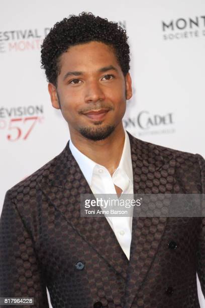 Jussie Smollett arrives at the Opening Ceremony of the 57th Monte Carlo TV Festival and World premier of Absentia Serie on June 16 2017 in MonteCarlo...