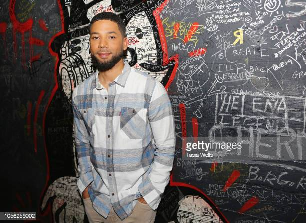 Jussie Smollett attends Espolòn Celebrates Day of the Dead at Academy Nightclub on November 1 2018 in Hollywood California