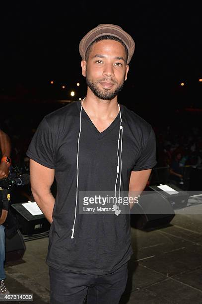 Jussie Smollett attends the 10th Annual Jazz in the Gardens Celebrating 10 Years of Great Music at Sun Life Stadium on March 22 2015 in Miami Gardens...