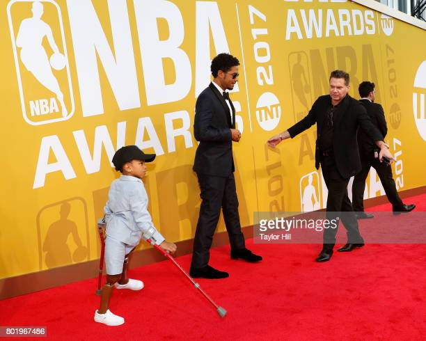Jussie Smollett attends the 2017 NBA Awards at Basketball City Pier 36 South Street on June 26 2017 in New York City