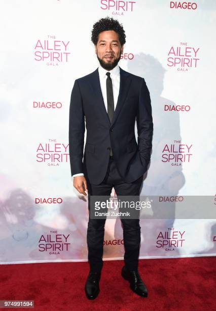 Jussie Smollett attends the 2018 Ailey Spirit Gala Benefit at David H Koch Theater at Lincoln Center on June 14 2018 in New York City