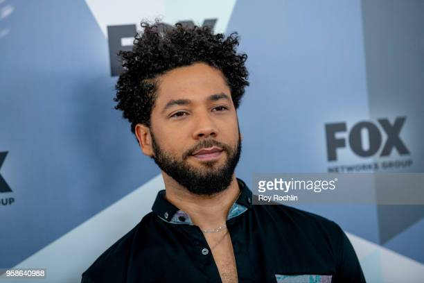 Jussie Smollett attends the 2018 Fox Network Upfront at Wollman Rink Central Park on May 14 2018 in New York City