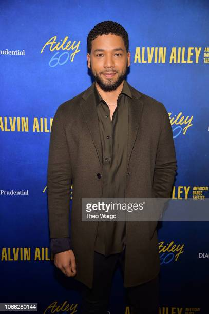 Jussie Smollett attends the Alvin Ailey American Dance Theater's 60th Anniversary Opening Night Gala Benefit at New York City Center on November 28...