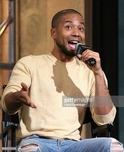 """Jussie Smollett attends The Build Series to discuss """"Empire"""" at AOL HQ on September 20, 2016 in New York City."""