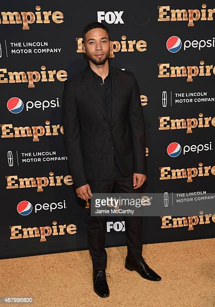 Jussie Smollett attends the Empire series season 2 New York Premiere at Carnegie Hall on September 12 2015 in New York City