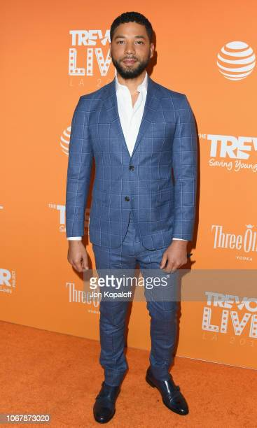 Jussie Smollett attends The Trevor Project's 2018 TrevorLIVE LA Gala at The Beverly Hilton Hotel on December 2 2018 in Beverly Hills California