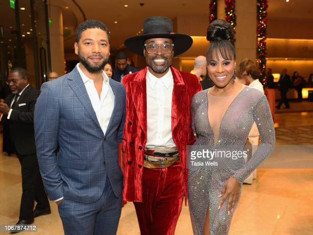 Jussie Smollett Billy Porter and Deborah Cox attend the Trevor Project's TrevorLIVE LA 2018 at The Beverly Hilton Hotel on December 3 2018 in Beverly...