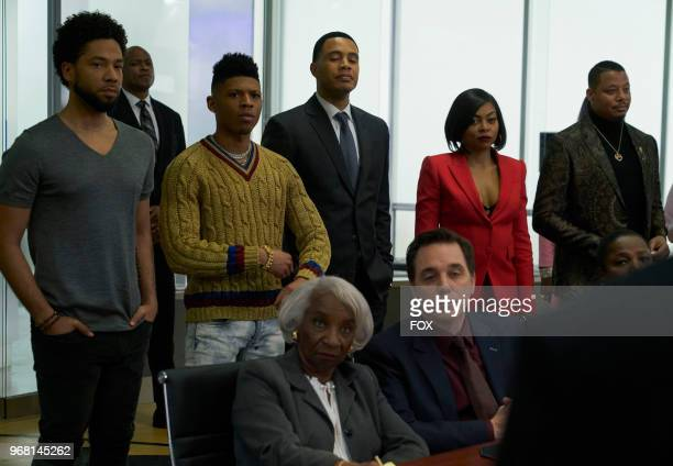 Jussie Smollett Bryshere Gray Trai Byers Taraji P Henson and Terrence Howard in the 'The Empire Unposessd' season finale episode of EMPIRE airing...