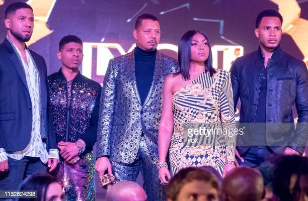 Jussie Smollett Bryshere Y Gray Terrence Howard Taraji P Henson and Trai Byers in the Had It From My Father fall finale episode of EMPIRE airing...