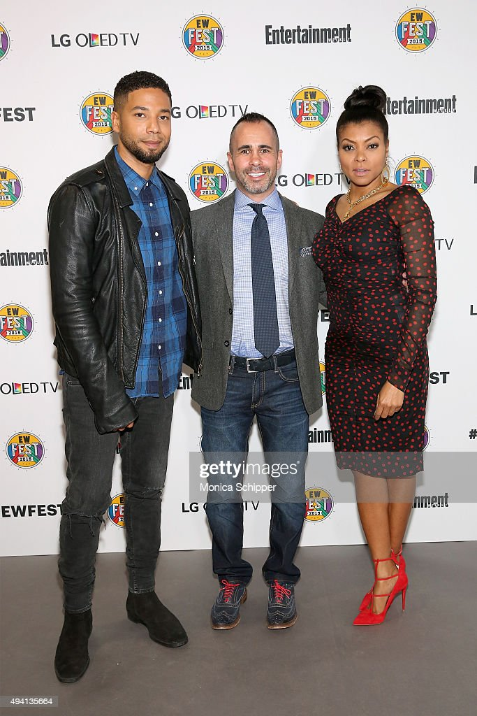 Jussie Smollett, Henry Goldblatt and Taraji P. Henson attend Entertainment Weekly's first ever 'EW Fest' presented by LG OLED TV on October 24, 2015 in New York City.