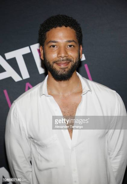 Jussie Smollett is seen at NATPE Miami 2019 Tyler Perry Keynote Living the Dream A Career in Content at the Fontainebleau Hotel on January 21 2019 in...