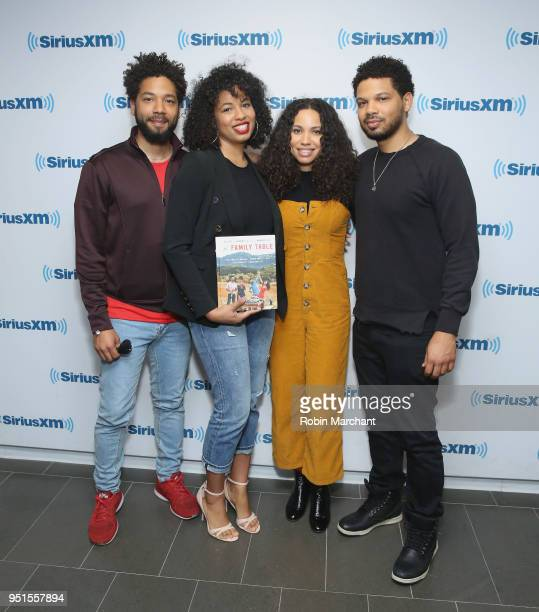 Jussie Smollett Jazz SmollettWarwell Jurnee SmollettBell and Jake Smollett visit at SiriusXM Studios on April 26 2018 in New York City