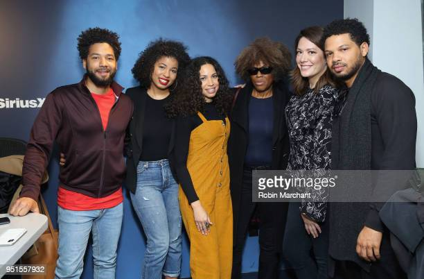 Jussie Smollett Jazz SmollettWarwell Jurnee SmollettBell Janet Smollett and Jake Smollett visit 'The Michelle Collins Show' with host Michelle...