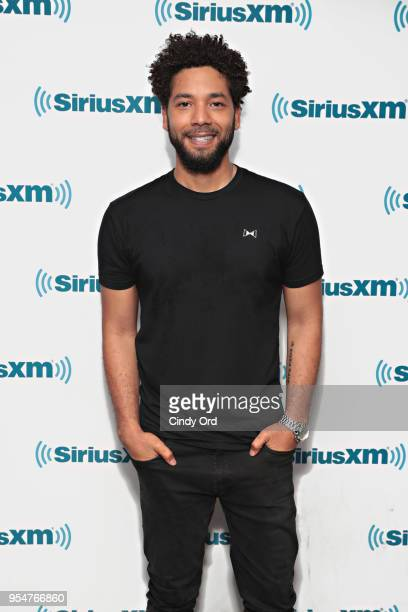 Jussie Smollett performs on SiriusXM's The Heat channel at SiriusXM Studios on May 4 2018 in New York City
