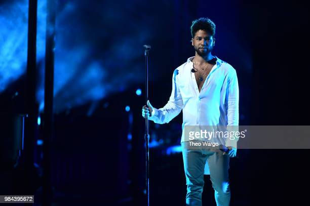 Jussie Smollett performs on stage during VH1 Trailblazer Honors 2018 at The Cathedral of St John the Divine on June 21 2018 in New York City