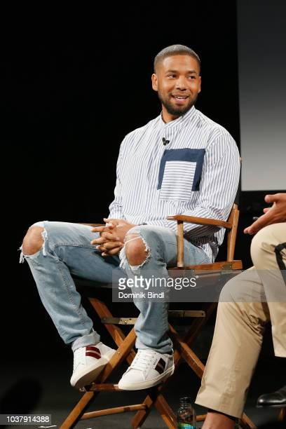 Jussie Smollett speaks during the Empire season 5 world premiere during the 2018 Tribeca TV Festival at Spring Studios on September 22 2018 in New...